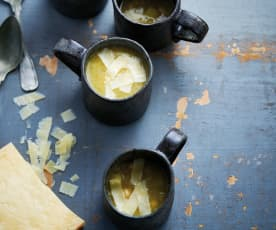 Sopa de grão com alho-francês