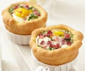 Ei-Schinken-Muffins