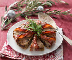 Gluten free baked bacon and cranberry stuffing