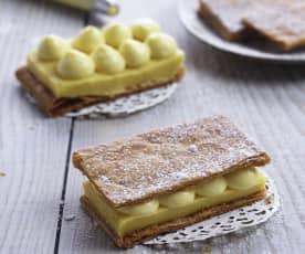 Apfel-Safran Millefeuille