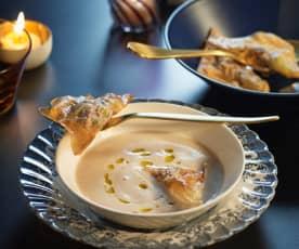 Maronisuppe mit Pilztascherl