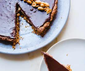 Tarte de chocolate com manteiga de amendoim