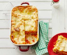 Lasagne mit Kürbis und Amarettini
