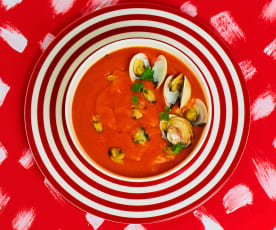 Manhattan Clam Chowder (Zuppa di vongole)