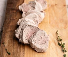 Cozer 1500 g de lombinho de porco