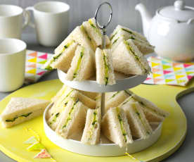Sándwiches de pepino ingleses