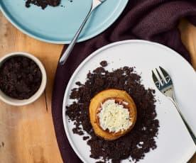 Tortino allo zenzero con crumble al cacao
