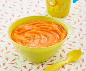 Papilla de zanahoria