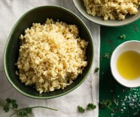 Mijo cocido (Cocción de arroz)