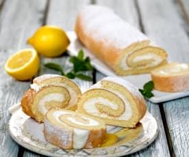Piškotová roláda s citrónovým krémem