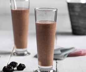 Smoothie de chocolate y ciruelas pasas