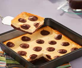 Tarta de queso con lunares de chocolate (Polka dot cheesecake)