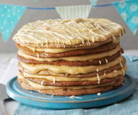 Tarta de cookies y mantequilla de cacahuete
