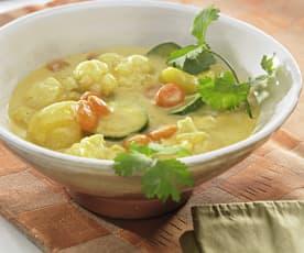 Warzywne curry z mleczkiem kokosowym