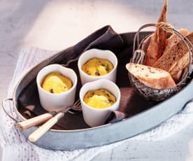 Spinat-Pilz-Quiche-Cups