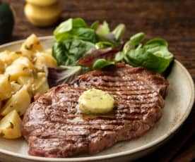 Herby Steaks with French Potato Salad