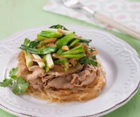 韭菜粉絲豬肉片