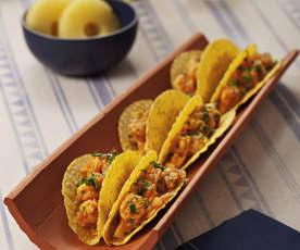 Tacos z krewetkami i ananasem