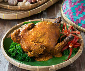 Ayam golek (coconut roasted spiced chicken)