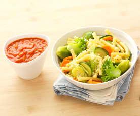 Macaroni aux 5 légumes colorés