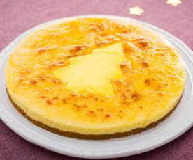 Tarta de crema catalana a la naranja