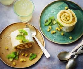 Gâteau roulé léger mangue-Passion