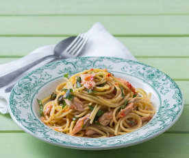 Smoked Salmon Lemon Pasta