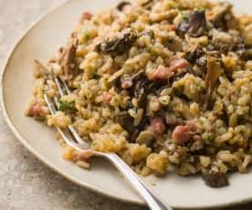 Porcini and Pancetta Risotto - Risotto con porcini e pancetta