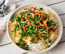Arroz con huevo y verduras salteadas (HESTAN CUE)