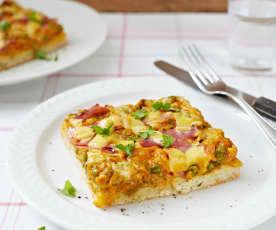Pizza mit Reismehlteig