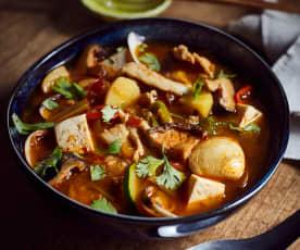 Scharfe Gemüsesuppe mit Bohnenpaste (大酱汤)