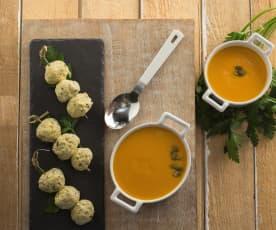 Crema di verdure e polpette di tacchino