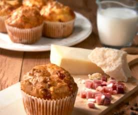 Muffins de beicon y queso (sin gluten)