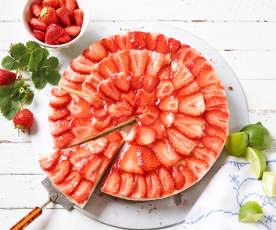 Erdbeer-Limetten-Tarte
