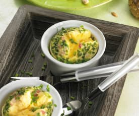 Vaječné sufflé s uzeným masem