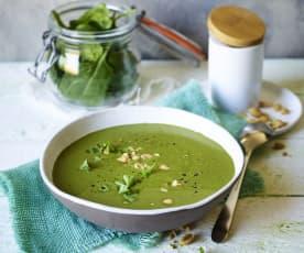 Zupa szpinakowa z imbirem