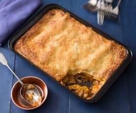Hearty gluten free vegetarian lasagne
