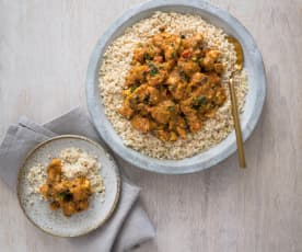 Middle Eastern chicken with pearl couscous