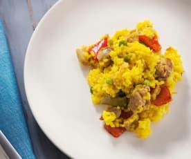 Riz jaune au poulet