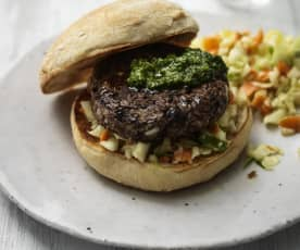 Bean Burgers with Pistou and Slaw