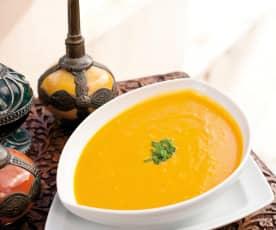 Sopa de zanahoria, naranja y jengibre (La soupe des amoureux)