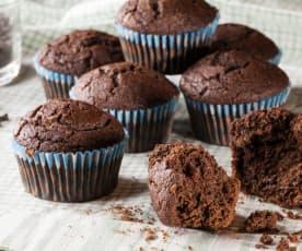Muffin al farro e fondente