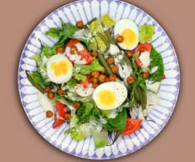 Ceasar Salad mit Kichererbsen