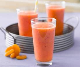 Bebida de zanahoria, nectarinas y orejones
