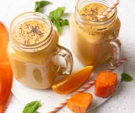Smoothie de papaya y queso fresco