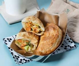 Empanadillas de hojaldre vegetarianas