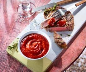 Rote Grillsauce für Fleisch und Geflügel