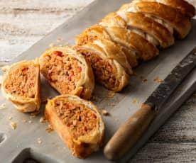 Spanish-flavoured Sausagemeat Plait