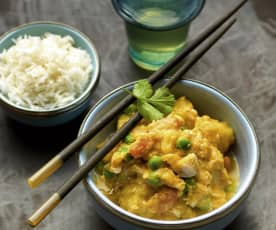 Kyllingcurry i Thai-stil
