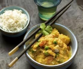 Schnelles Thai-Hühnchencurry
